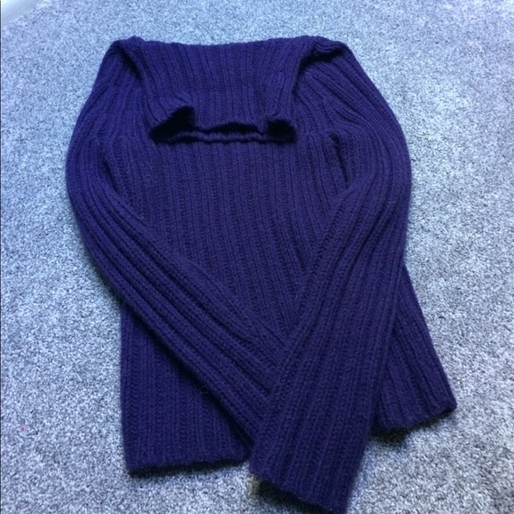 75% off Express Sweaters - Chunky Express Purple Sweater from ...