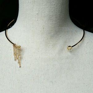 Rebecca Minkoff Crystal Fringe Collar