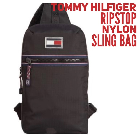 d1ebb77e5a81 Tommy Hilfiger ripstop nylon sling bag. M 59d14f9ebf6df504360a8c32