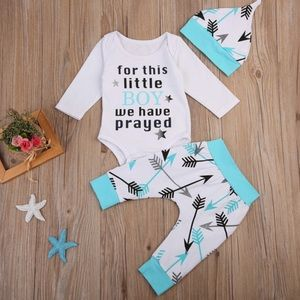 """Other - """"for this little boy we have prayed"""" outfit"""