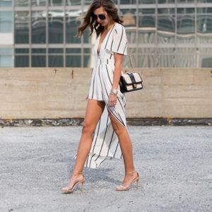 a5a4f944ea10 Socialite Pants - Socialite Walk through Overlay Striped Maxi Romper