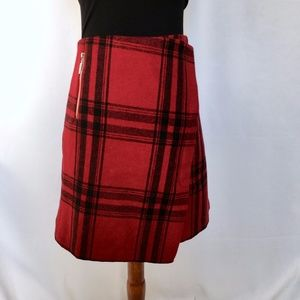 Topshop Skirts - Red Plaid Skrit