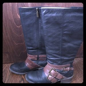 Lane Bryant real leather wide calf boots