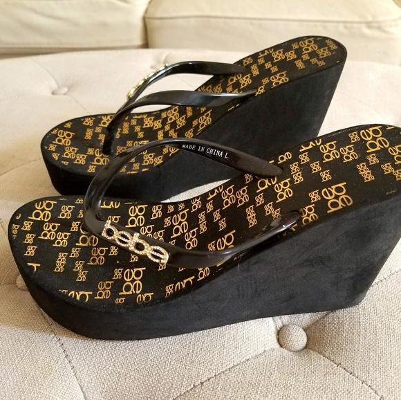 e020bb65fac1c bebe Shoes - Bebe high wedge flip flop