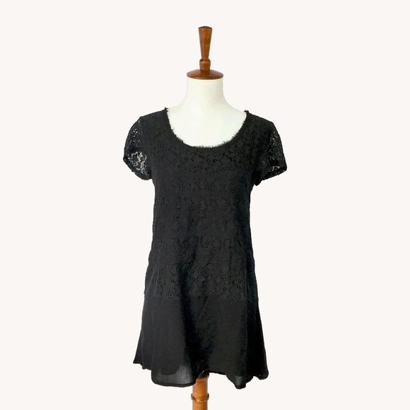 Anthropologie Tops - Anthropologie Nightfall Lace Tunic