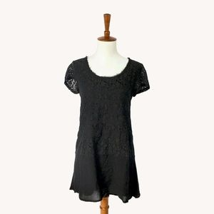 Anthropologie Nightfall Lace Tunic