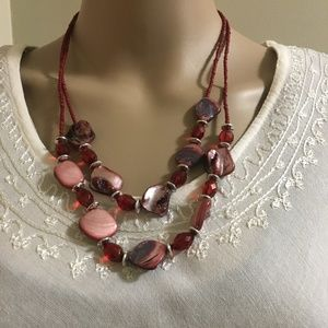 Necklace & Earrings Set Fashion Stone & Beads