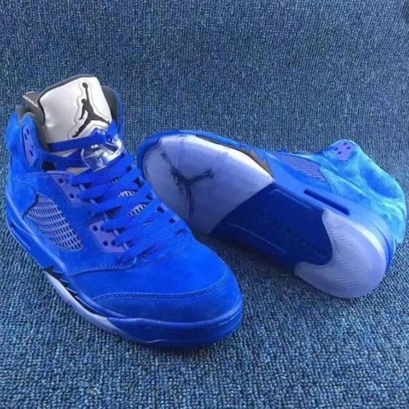 Air Jordan 5s Blue Suede   Poshmark