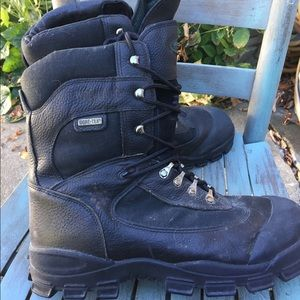 Wolverine Gore-Tex Black Leather Tall Boots 13W