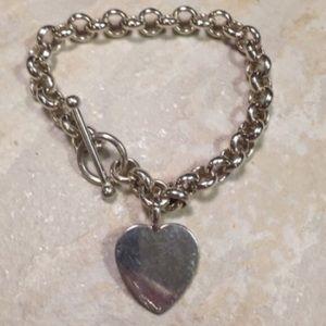Jewelry - 925ss women's toggle chain heart bracelet