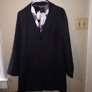A My Michelle dark gray jacket. Very sophisticated