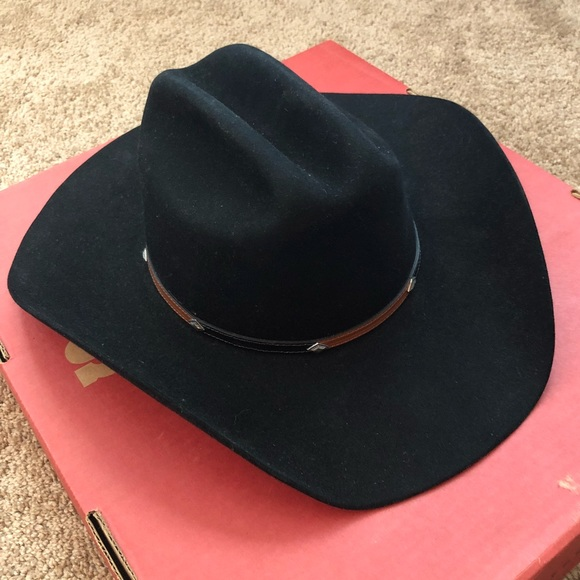 b4a788e10ac4f Stetson Black Grant Cowboy Hat. M 59d15c859c6fcffdac0af260