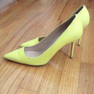 J Crew cracked leather heels