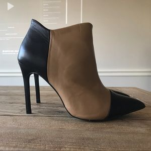 Jane Aldridge for Shoemint Leather Cap Toe Bootie