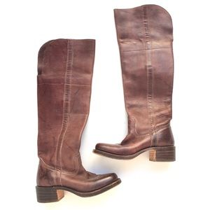 🆕Frye Campus Over the Knee Boots Saddle