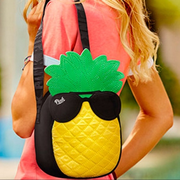 af7079f98e04 Victoria's Secret Pink pineapple cooler/ lunch bag NWT