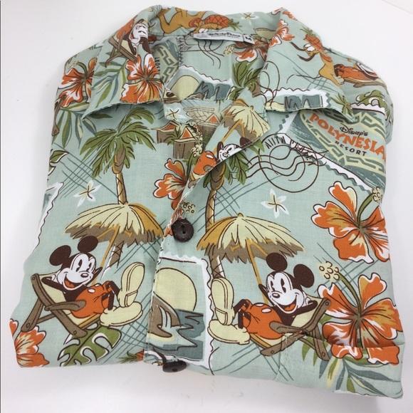 b3a0ddb6 Disney Shirts | Polynesian Hawaiian Shirt Mickey Mens M | Poshmark