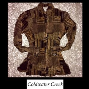 COLD WATER CREEK• Button Down Blouse