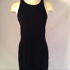 James Perse Black Fleece Stretch Maxi Dress Size 2