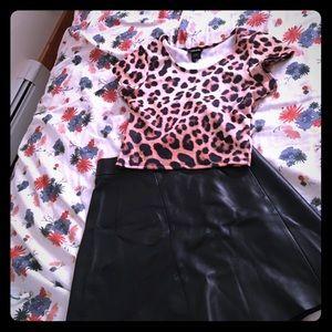 AllSaints leather skirt size 4