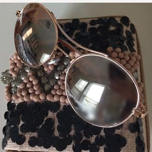 Brand new rose gold sunglasses