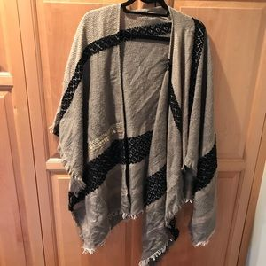Anthropologie knit cape poncho