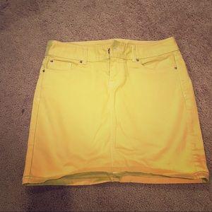 Cache Yellow Mini Skirt