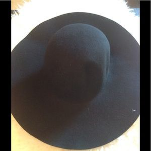 NAVY ONLY !Boho round topAA wool floppy hat💕