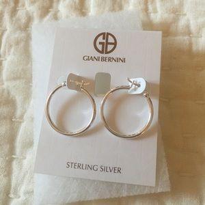 Giani bernini sterling silver hoop earrings.