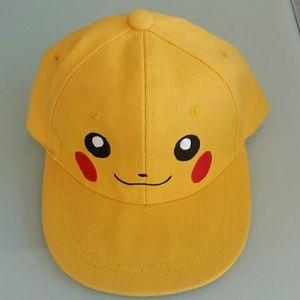 Pikachu Pokemon child kid hat cap yellow