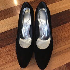 Dark brown velvet shoes vintage sweet 👠