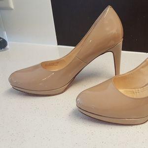 Nude Cole Haan  3.5 inch platform heels