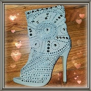 Shoes - Peep Toe Bootie