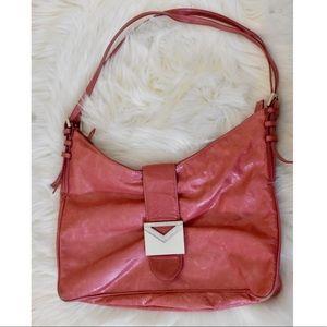 100% Leather Vintage Via Spiga Pink Handbag