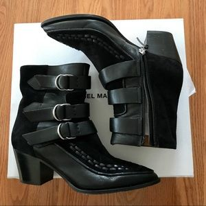 Isabel Marant Black Dickey Leather and Suede Boots