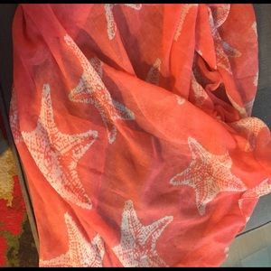Coral lightweight scarf