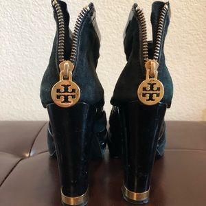 100% Authentic Tory Burch Velvet & Patent Heels