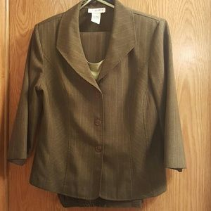 Moss green suit