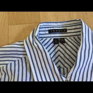 Theory button down shirt, new condition