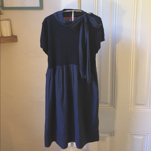 Manoush Dresses & Skirts - Manoush navy blue cotton cashmere dress M