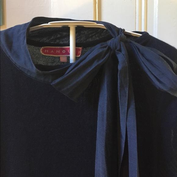 Manoush Dresses - Manoush navy blue cotton cashmere dress M