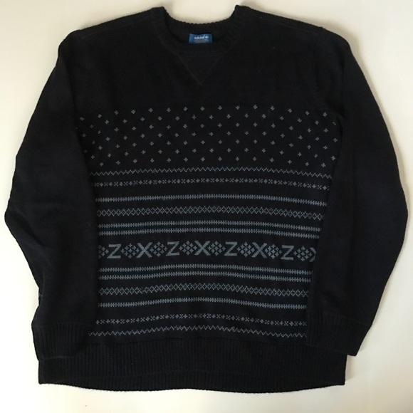 dinosaurio barril espina  adidas Sweaters | Mens Nordic Navy Winter Sweater Pullover | Poshmark
