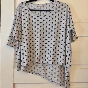 Asymmetrical Polka Dot Top