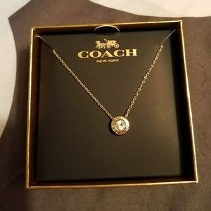 Nib Coach Open Stone Necklace