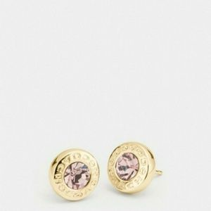 Nib Coach Open Stone Earrings