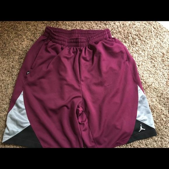 04dad799b2ea Air Jordan Other - XL Maroon with Gray and Black Jordan Shorts