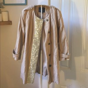 Gryphon sequined trench coat M