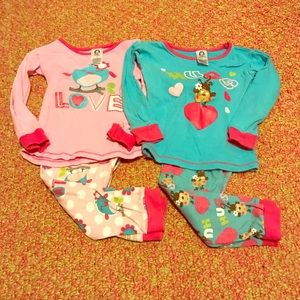 Toddler Girl Cozy Pajama Lot