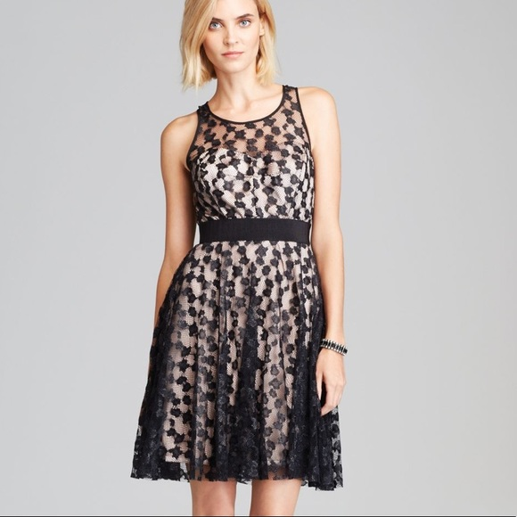 Milly Dresses - Milly cheetah lace lurex dress 8