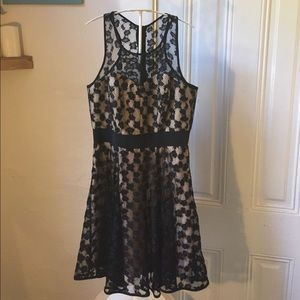 Milly cheetah lace lurex dress 8